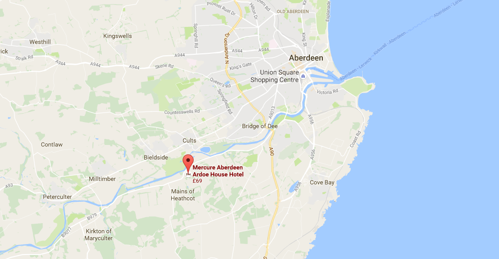 Ardoe House Hotel Location