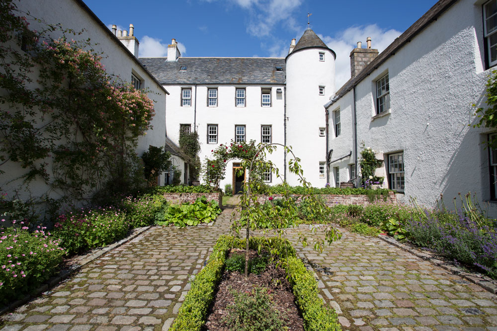 Logie Country House Courtyard, Wedding Venues Scotland