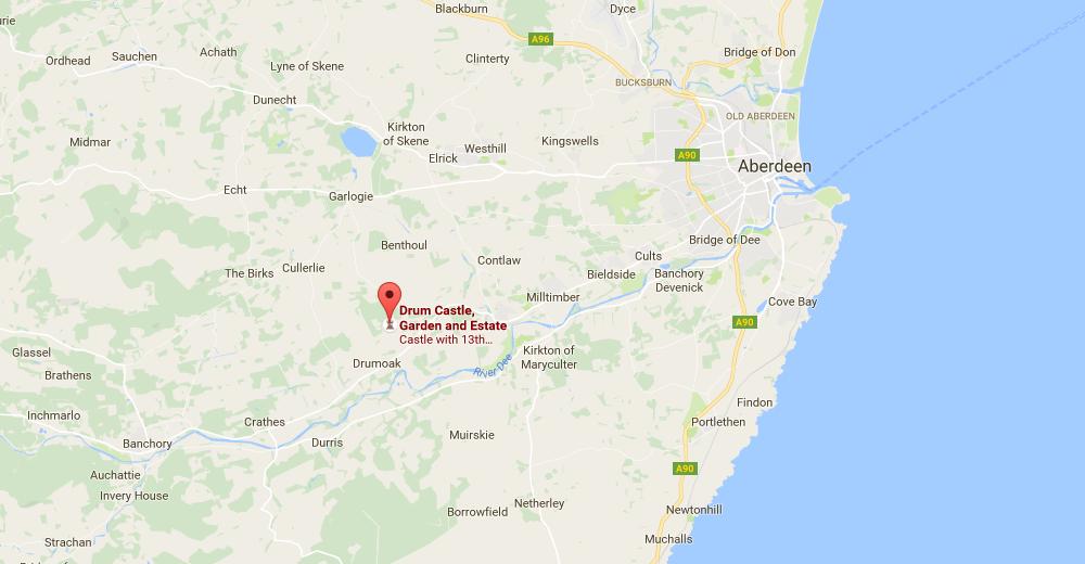 Drum Castle Location