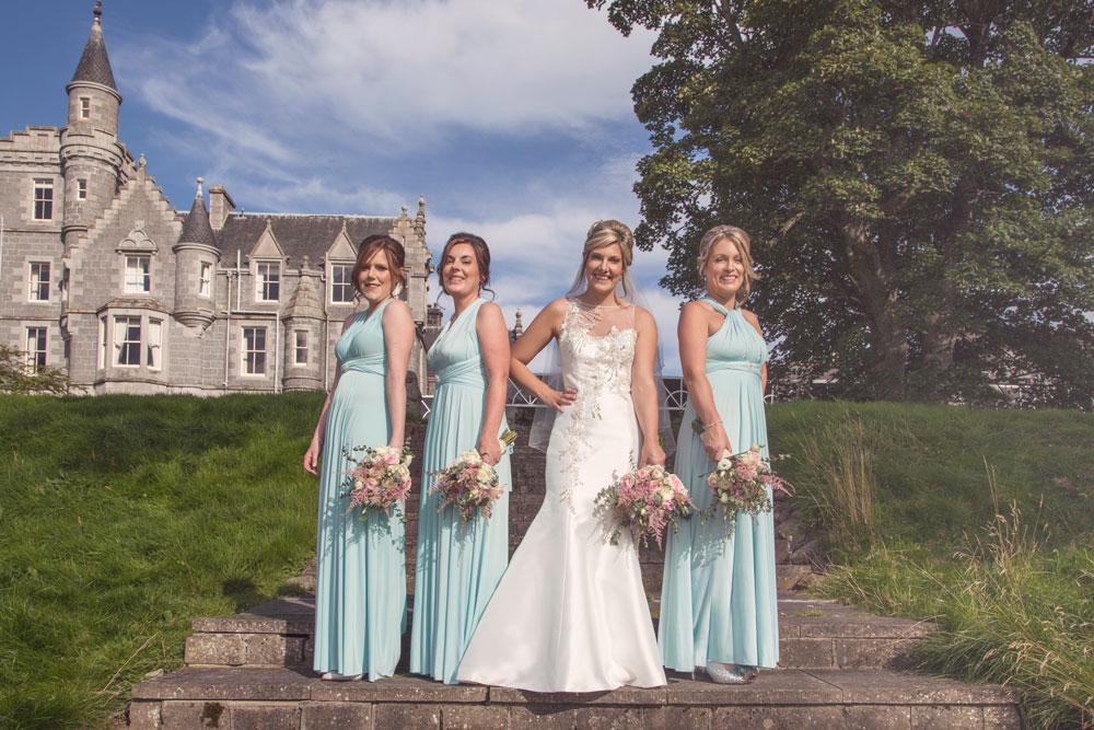 Ardoe House Hotel wedding, bride and bridesmaid, Anna Wytrazek Photography, wedding photographer Aberdeen