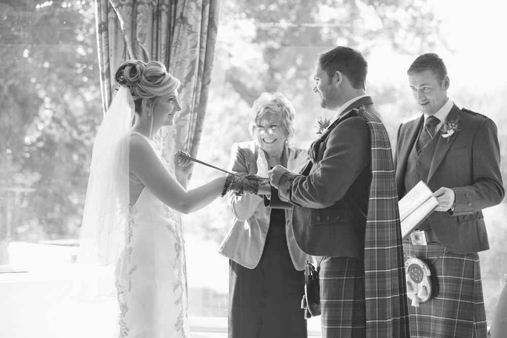 Ardoe House Hotel wedding, tying the knot tradition, Anna Wytrazek Photography, wedding photographer Aberdeen