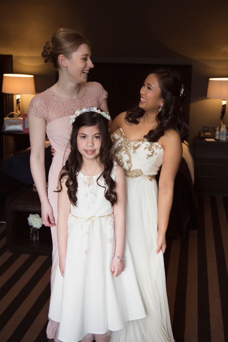 Chester Hotel Wedding, Bride and Bridesmaids, Anna Wytrazek Photography, Wedding Photographer Aberdeen