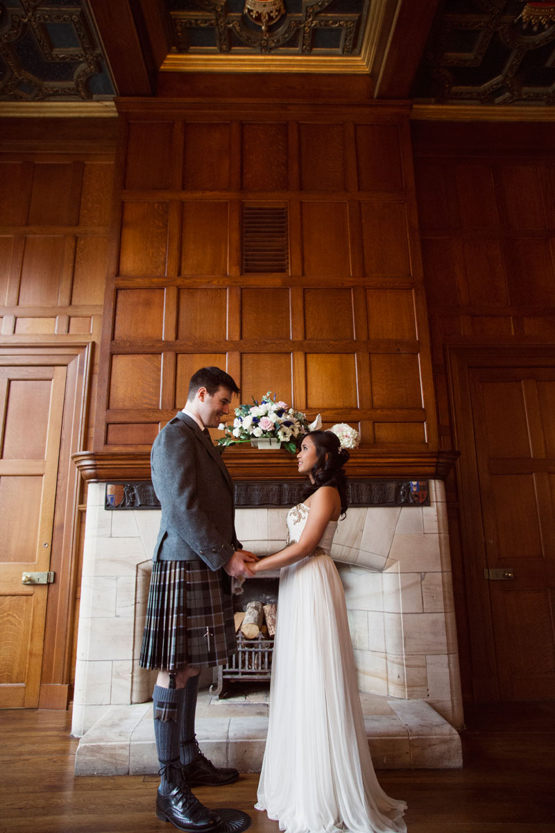 Chester Hotel Wedding, Bride and groom holding hands, Anna Wytrazek Photography, Wedding Photographer Aberdeen