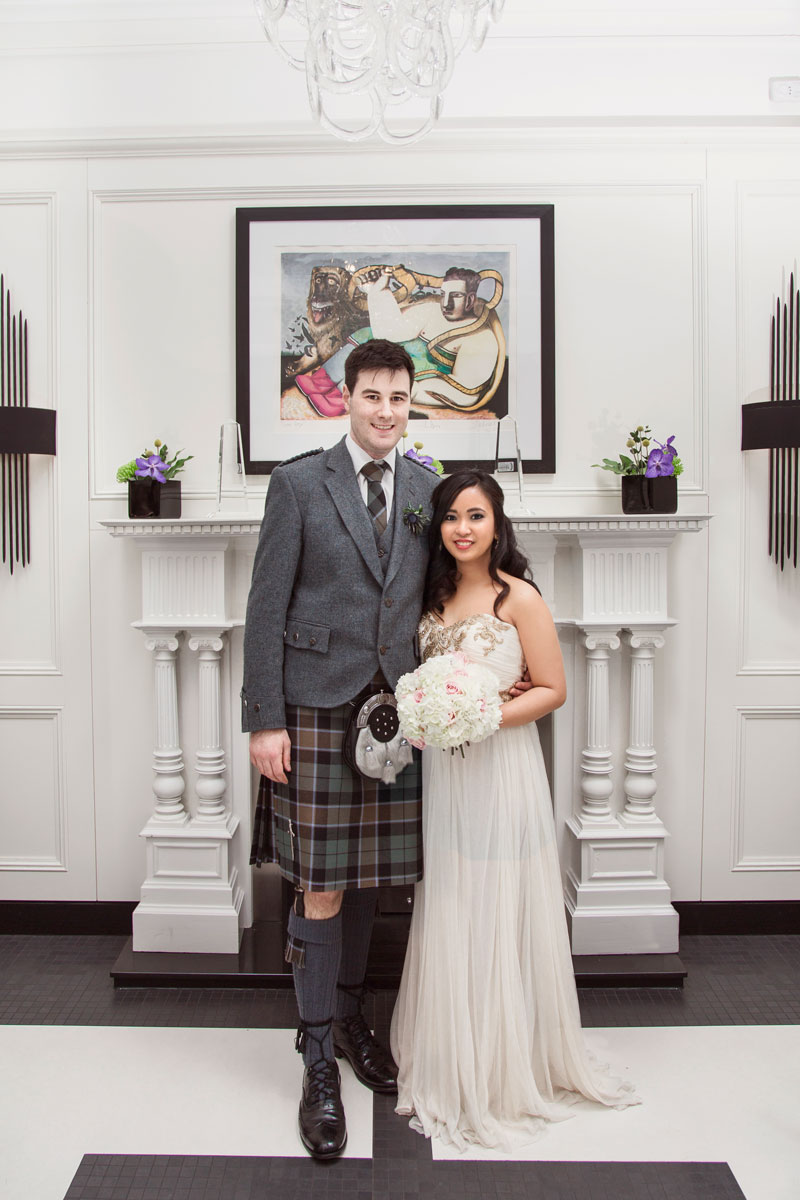 Chester Hotel Wedding, Bride and groom looking in to the camera, Anna Wytrazek Photography, Wedding Photographer Aberdeen