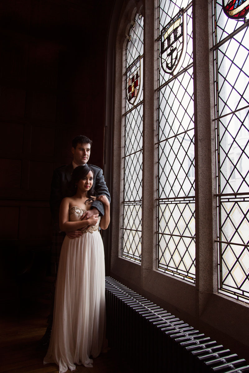 Chester Hotel Wedding, Bride and groom next to the window, Anna Wytrazek Photography, Wedding Photographer Aberdeen