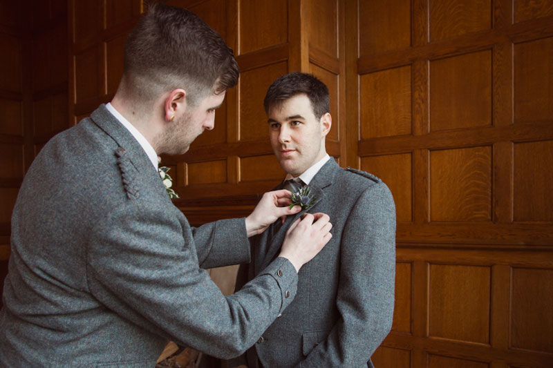 Chester Hotel Wedding, Groom and the Best Man Anna Wytrazek Photography, Wedding Photographer Aberdeen