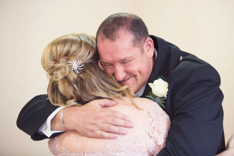 Thainstone House Hotel Wedding, bride and groom hugging, Anna Wytrazek Photography, Wedding Photographer Aberdeen