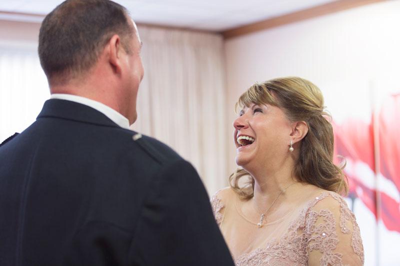 Thainstone House Hotel Wedding, bride laughing, Anna Wytrazek Photography, Wedding Photographer Aberdeen