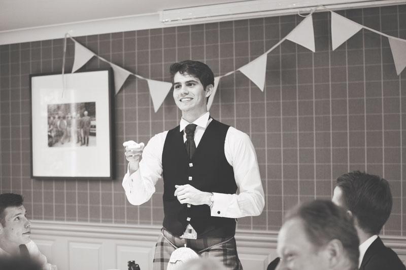 Thainstone House Hotel Wedding, speech, Anna Wytrazek Photography, Wedding Photographer Aberdeen