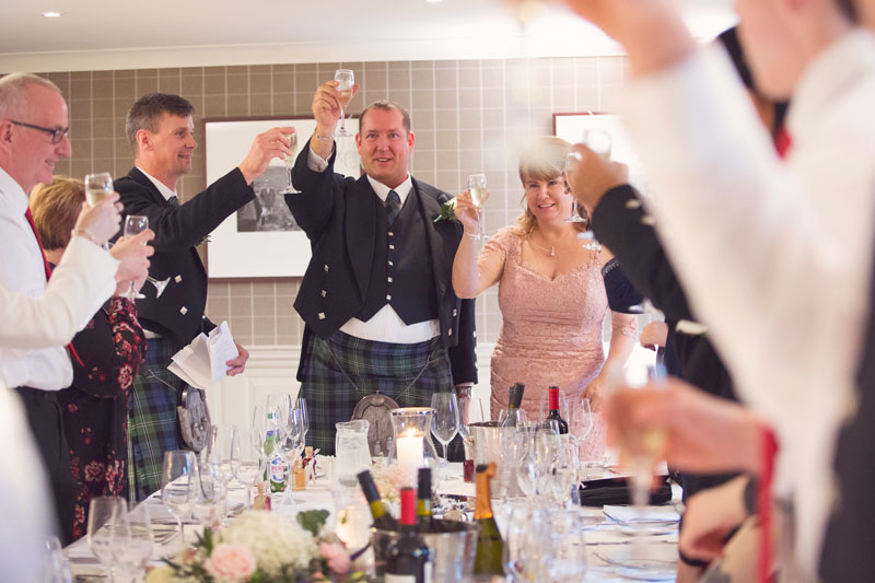 Thainstone House Hotel Wedding, wedding toast, Anna Wytrazek Photography, Wedding Photographer Aberdeen