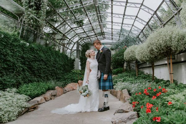 Anna Wytrazek Photography, Bride and Groom at the Winter Gardens, Wedding photographer Aberdeen