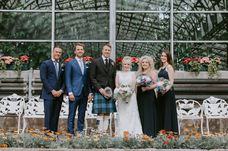 Duthie Park Winter Gardens Wedding, Bridal Party, Anna Wytrazek Photography, Wedding photographer Aberdeen