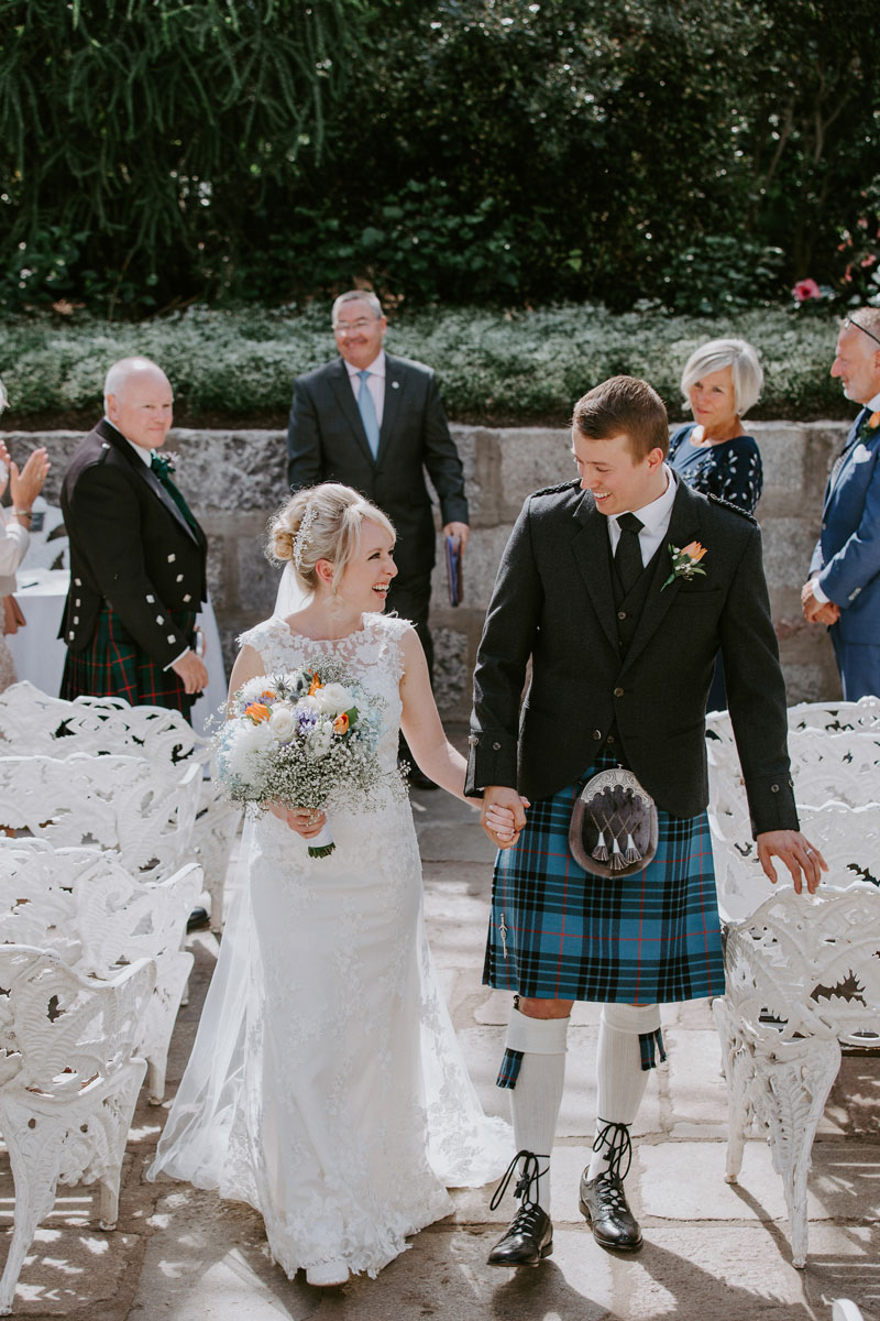 Duthie Park Winter Gardens Wedding, Just married, Anna Wytrazek Photography, Wedding Photographer Aberdeen
