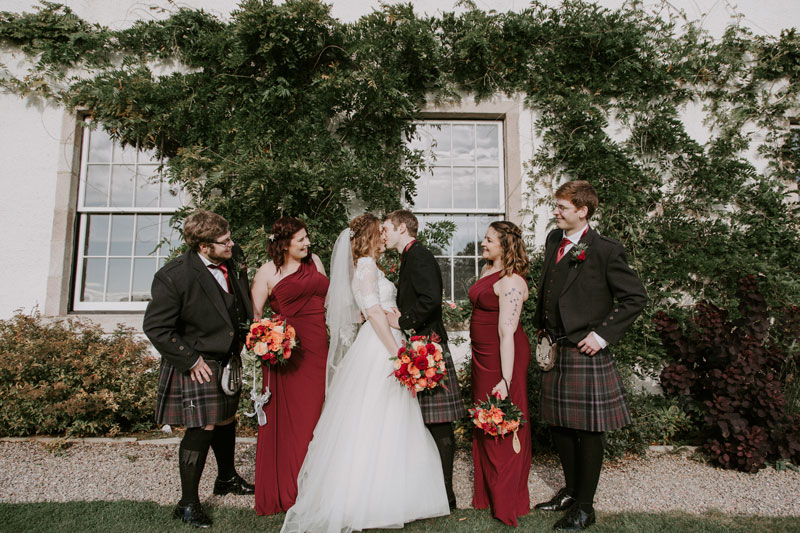 Logie Country House Wedding, Bridal party, Anna Wytrazek Photography, Wedding Photographer Aberdeen