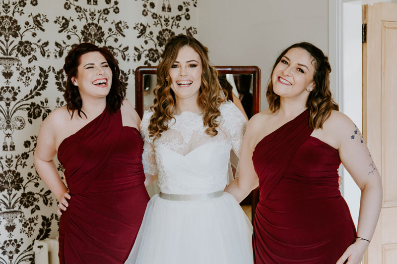 Logie Country House Wedding, Bride and bridesmaids, Anna Wytrazek Photography, Wedding Photographer Aberdeen