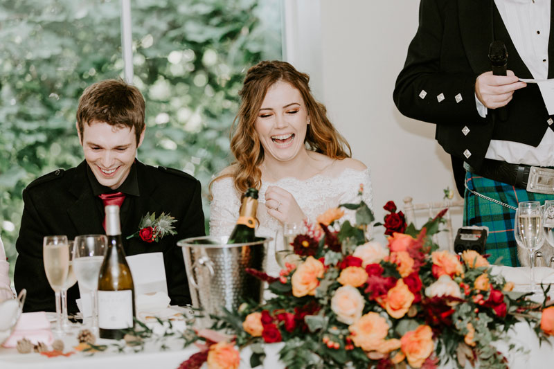 Logie Country House Wedding, Bride is laughing, Anna Wytrazek Photography, Wedding Photographer Aberdeen