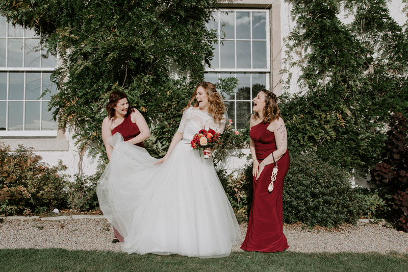 Logie Country House Wedding, Bride laughing, Anna Wytrazek Photography, Wedding Photographer Aberdeen