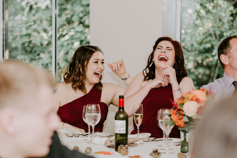 Logie Country House Wedding, Bridesmaids laughing, Anna Wytrazek Photography, Wedding Photographer Aberdeen