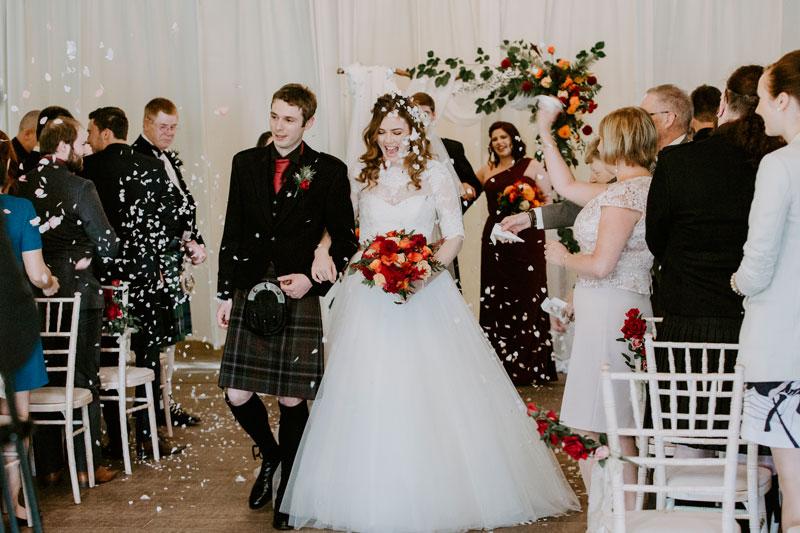 Logie Country House Wedding, Confetti, Anna Wytrazek Photography, Wedding Photographer Aberdeen