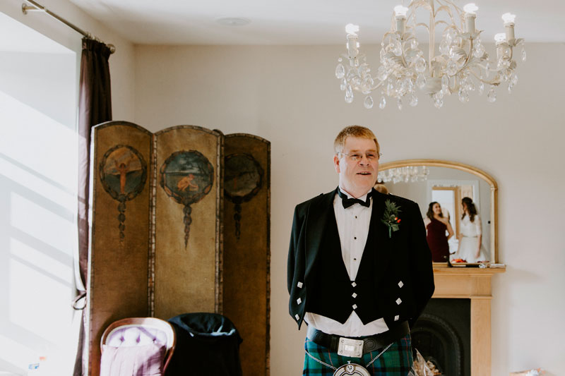 Logie Country House Wedding, Father of the bride, Anna Wytrazek Photography, Wedding Photographer Aberdeen