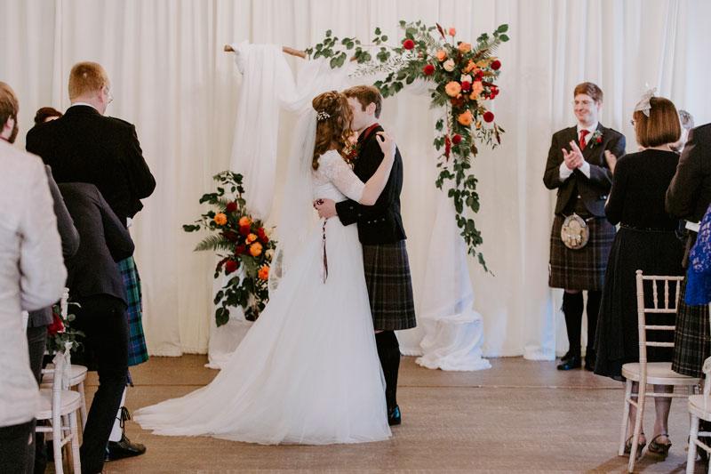 Logie Country House Wedding, First Kiss, Anna Wytrazek Photography, Wedding Photographer Aberdeen