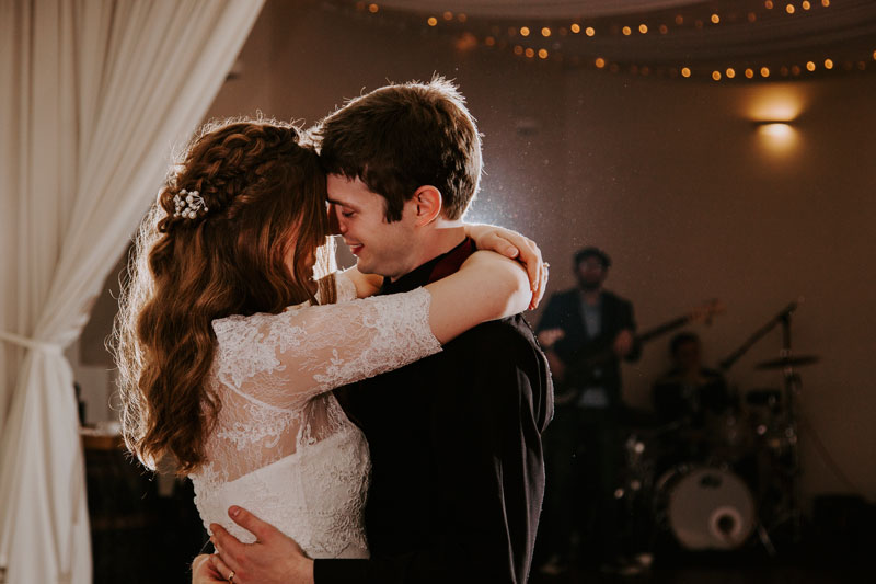Logie Country House Wedding, First dance hug, Anna Wytrazek Photography, Wedding Photographer Aberdeen