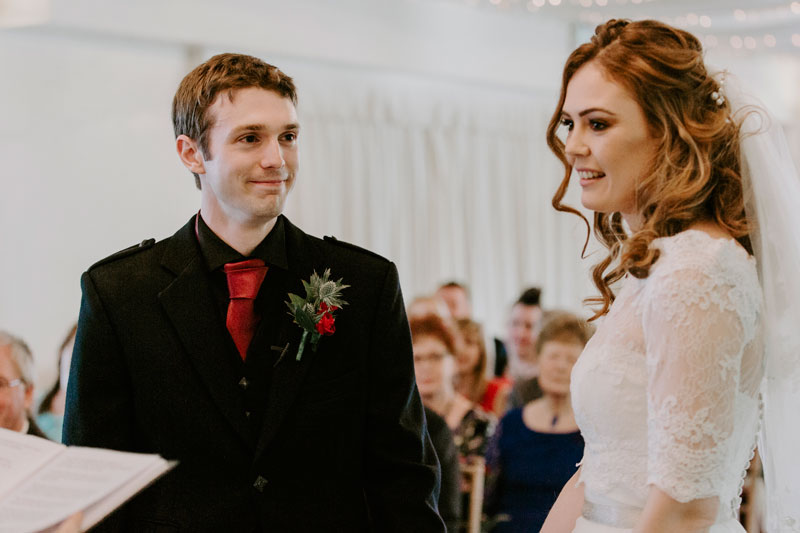 Logie Country House Wedding, Groom smiling, Anna Wytrazek Photography, Wedding Photographer Aberdeen