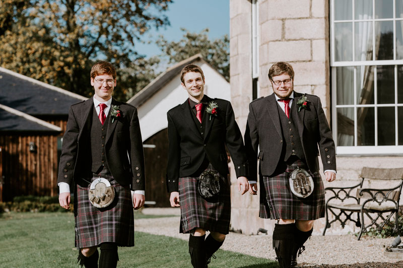 Logie Country House Wedding, Groom with ushers, Anna Wytrazek Photography, Wedding Photographer Aberdeen
