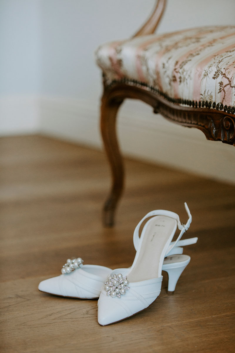 Logie Country House Wedding, Shoes, Anna Wytrazek Photography