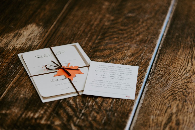 Logie Country House Wedding, an Invitation, Anna Wytrazek Photography, Wedding Photographer Aberdeen