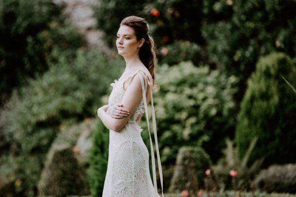 Wedding Photographer Edinburgh Bride wearing the wedding dress
