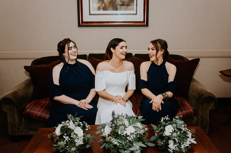 The Marcliffe Hotel wedding Anna Wytrazek Photography Wedding Photographer Edinburgh bridal party
