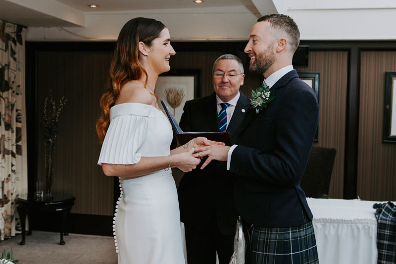 The Marcliffe Hotel wedding Anna Wytrazek Photography Wedding Photographer Edinburgh ceremony