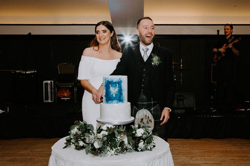 The Marcliffe Hotel wedding Anna Wytrazek Photography Wedding Photographer Edinburgh cutting the cake