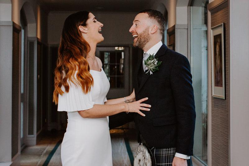 The Marcliffe Hotel wedding Anna Wytrazek Photography Wedding Photographer Edinburgh happy couple