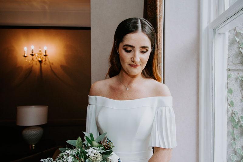 The Marcliffe Hotel wedding Anna Wytrazek Photography Wedding Photographer Edinburgh portrait of the bride