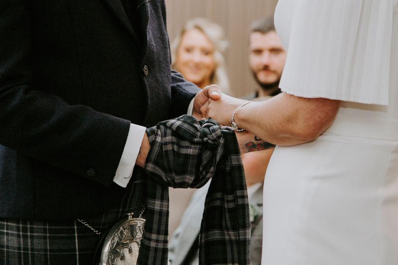 The Marcliffe Hotel wedding Anna Wytrazek Photography Wedding Photographer Edinburgh tying the knot
