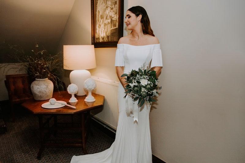 The Marcliffe Hotel wedding Anna Wytrazek Photography Wedding Photographer Edinburgh vintage wedding dress