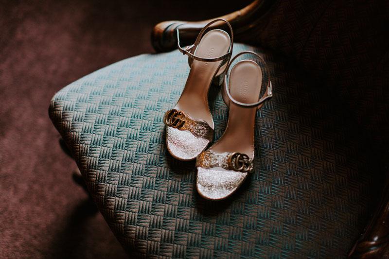 The Marcliffe Hotel wedding Anna Wytrazek Photography Wedding Photographer Edinburgh wedding shoes